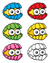 Cute clam an illustration of cartoon colorful Stock Photography