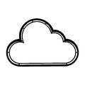 Cute cloud isolated icon