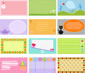A Cute Collection of Vector Label / Card Royalty Free Stock Photo