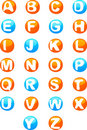 Cute colored 3d alphabet Royalty Free Stock Image