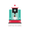Cute colorful coffee maker