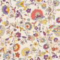 Cute colorful floral seamless pattern with abstract flower endless can be used for wallpaper backdrop Royalty Free Stock Images
