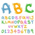 Cute colorful funny font Royalty Free Stock Photography