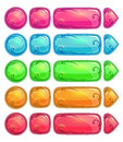 Cute colorful glossy buttons Royalty Free Stock Photo