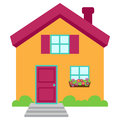 Cute and Colorful Isolated Vector Home Royalty Free Stock Photo