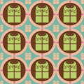 Cute colorful presents pattern Royalty Free Stock Images