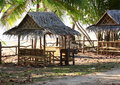 Cute comfortable cottage summer near the beach Royalty Free Stock Photos