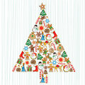 Cute Cookie Christmas Tree Royalty Free Stock Images