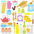 Cute Cooking, Baking Theme Stock Images