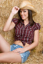 Cute Country Girl Royalty Free Stock Image