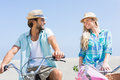 Cute couple on a bike ride Royalty Free Stock Photo