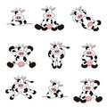 Cute Cow Set Royalty Free Stock Photography