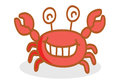 Cute crab cartoon smiling illustration Stock Photography