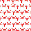 Cute crab and lobster sealife pattern