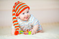 Cute crawling baby boy indoors Royalty Free Stock Photo