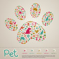 Cute creative animal and pet shop infographic icon brochure bann Royalty Free Stock Photo