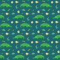 Cute Crocodile Or Alligator Wi...