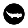Cute crocodile isolated icon