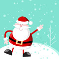 Cute cuddly santa separate layer easy editing Stock Photo