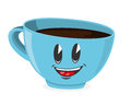 Cute cup of coffee vector illustration Royalty Free Stock Photo