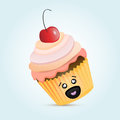 Cute cupcake Stock Photo