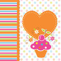 Cute cupcake background baby with Stock Photos