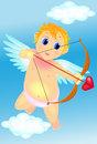 Cute cupid with arrow Royalty Free Stock Photo