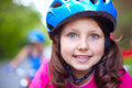 Cute cyclist Royalty Free Stock Photography