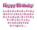 Cute 3D letters of the English alphabet, uppercase and lowercase