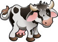 Cute Dairy Cow Vector Illustration Royalty Free Stock Photography