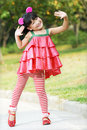 Cute dancing children Stock Image