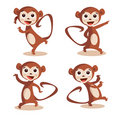 Cute dancing monkey Stock Image