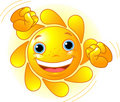 Cute dancing Sun Stock Photography
