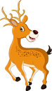 Cute deer cartoon posing illustration of Royalty Free Stock Images