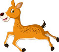 Cute deer cartoon running illustration of Royalty Free Stock Photography