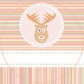 Cute deer face animal on brown background vector Stock Photo