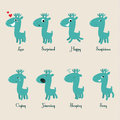 Cute deers stickers