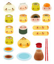 Cute dim sum chinese food vector file eps Royalty Free Stock Images