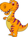 Cute dinosaur cartoon illustration of Royalty Free Stock Photos