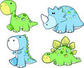 Cute Dinosaur Set Royalty Free Stock Photos