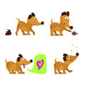 Cute dog set Royalty Free Stock Photo