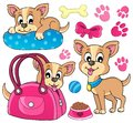 Cute dog theme image eps vector illustration Stock Images