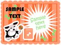 Cute dogs food card template Royalty Free Stock Image