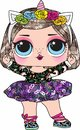 Cute doll  lol surprise Royalty Free Stock Photo
