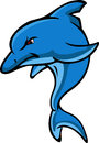 Cute dolphin cartoon illustration of Stock Images