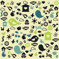 Cute doodle pattern Royalty Free Stock Images