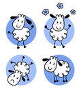 Cute doodle sheep collection Stock Photos