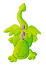 Cute dragon flying down Royalty Free Stock Photos
