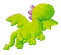 Cute dragon flying forward Stock Image