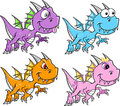 Cute Dragon Set Royalty Free Stock Photo